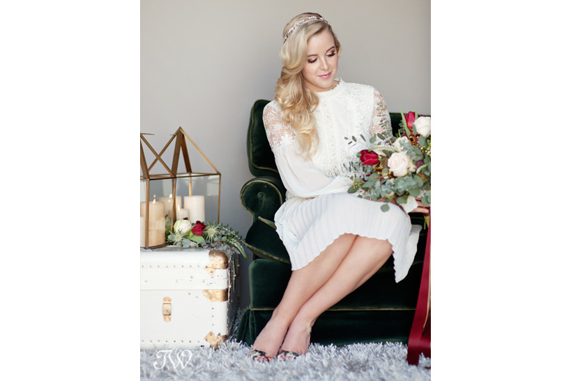 Valentine's Day bride captured by Calgary wedding photographer Tara Whittaker