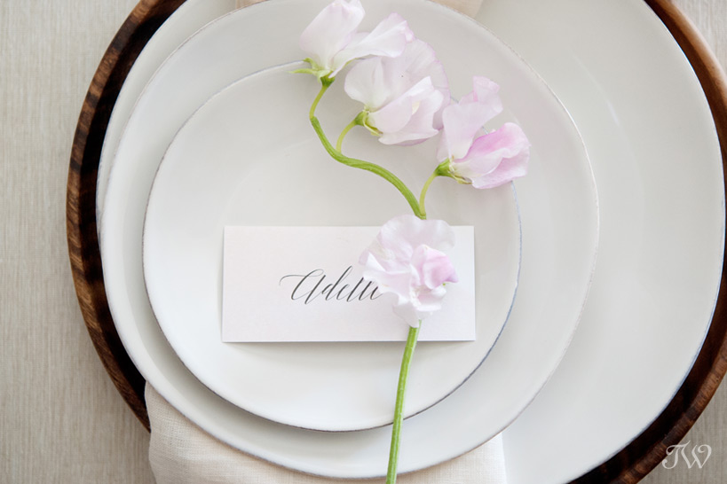 place setting from Crate & Barrel captured by Tara Whittaker Photography