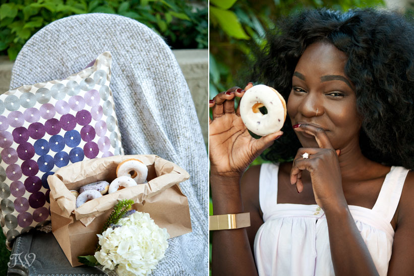 donut wedding favors at a bridal shower captured by Tara Whittaker Photography
