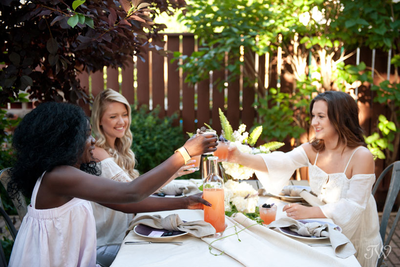 toast to the bride captured by Calgary wedding photographer Tara Whittaker
