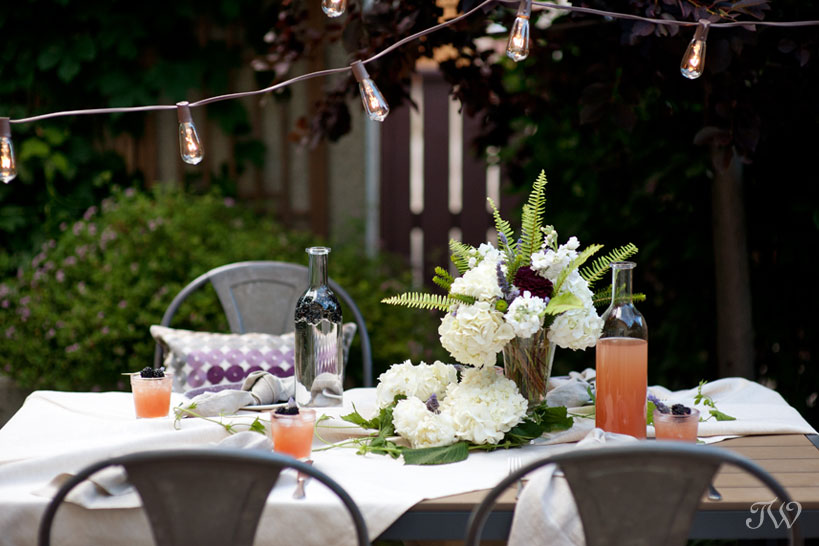tabletop at a bridal shower captured by Calgary wedding photographer Tara Whittaker