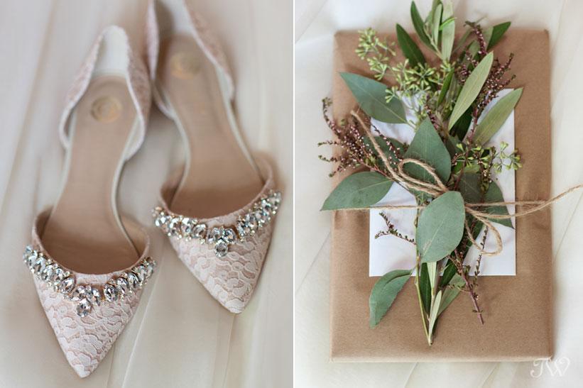 BHLDN wedding shoes captured by Calgary wedding photographer Tara Whittaker