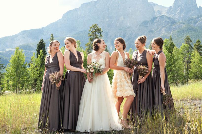 bridesmaids laugh during photos near Quarry Lake Tara Whittaker Photography