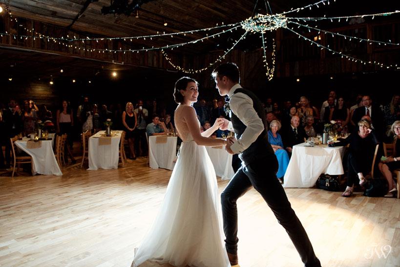first dance at Cornerstone Theatre wedding captured by Tara Whittaker Photography