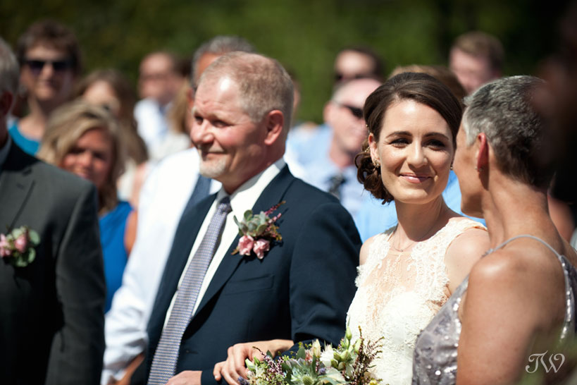Mother daughter moment during wedding ceremony captured by Calgary wedding photographer Tara Whittaker