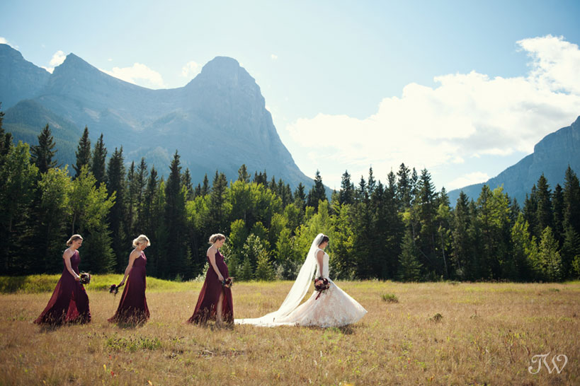 bridal party at Quarry Lake wedding captured by Tara Whittaker Photography