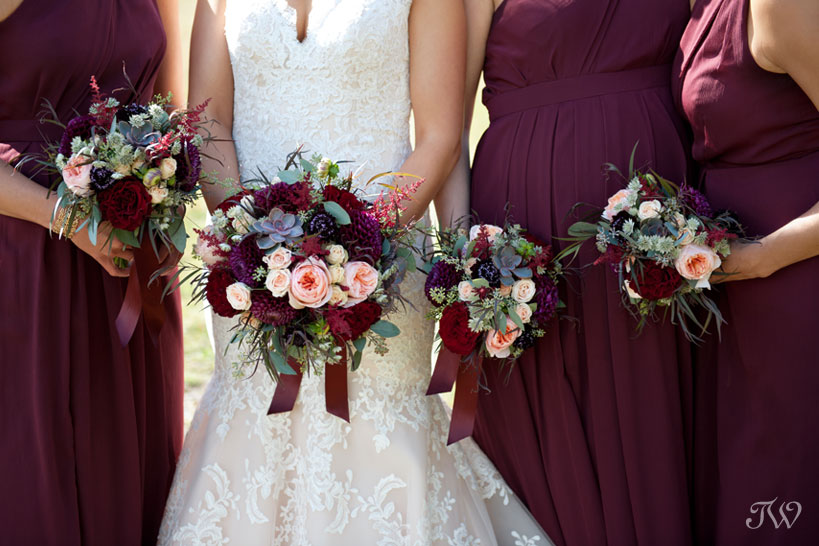 wedding flowers by Willow Flower Co. captured by Tara Whittaker Photography