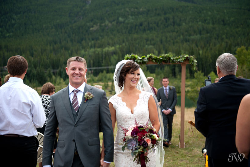 Just married after a Quarry Lake wedding captured by Tara Whittaker Photography