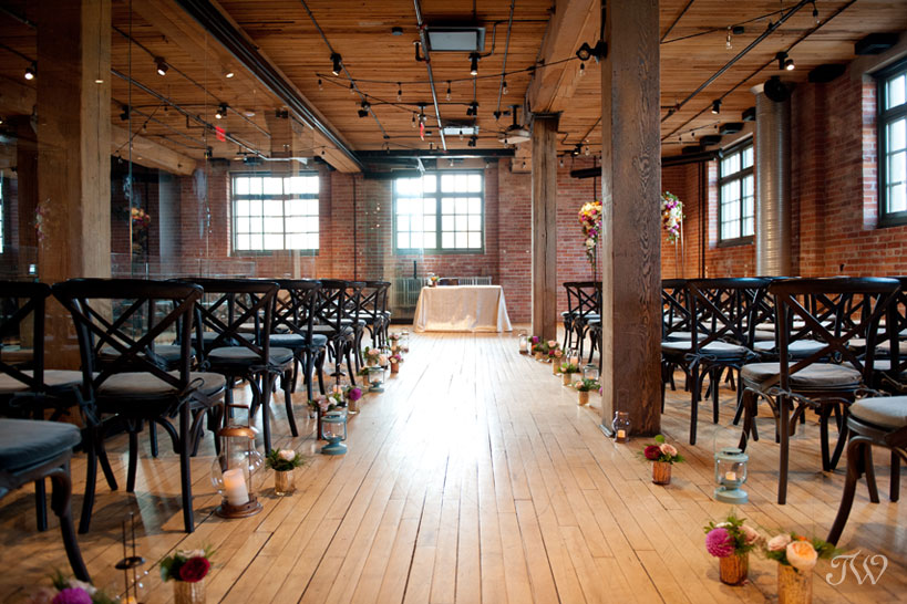 Wedding ceremony at Charbar in Calgary's East Village captured by Tara Whittaker Photography