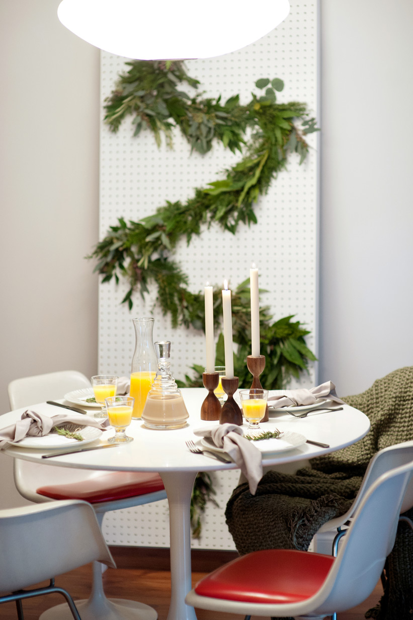 hosting a mid century modern Christmas with Crate & Barrel