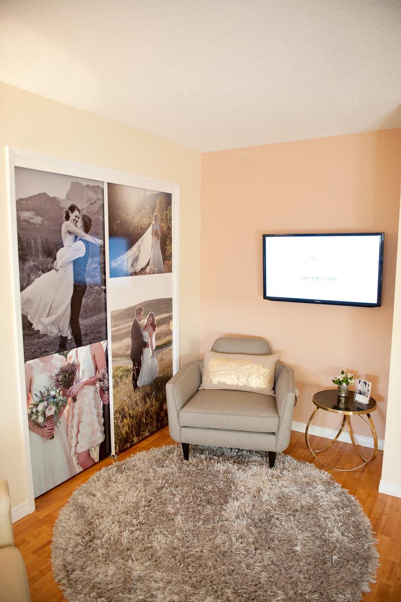 Studio of Calgary wedding photographer Tara Whittaker