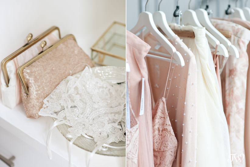 Gowns and accessories for bridal parties at Blush & Raven captured by Tara Whittaker Photography