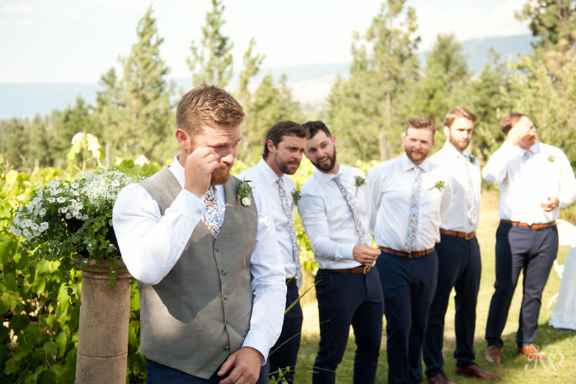 vineyard wedding ceremony in Kelowna captured by Tara Whittaker Photography