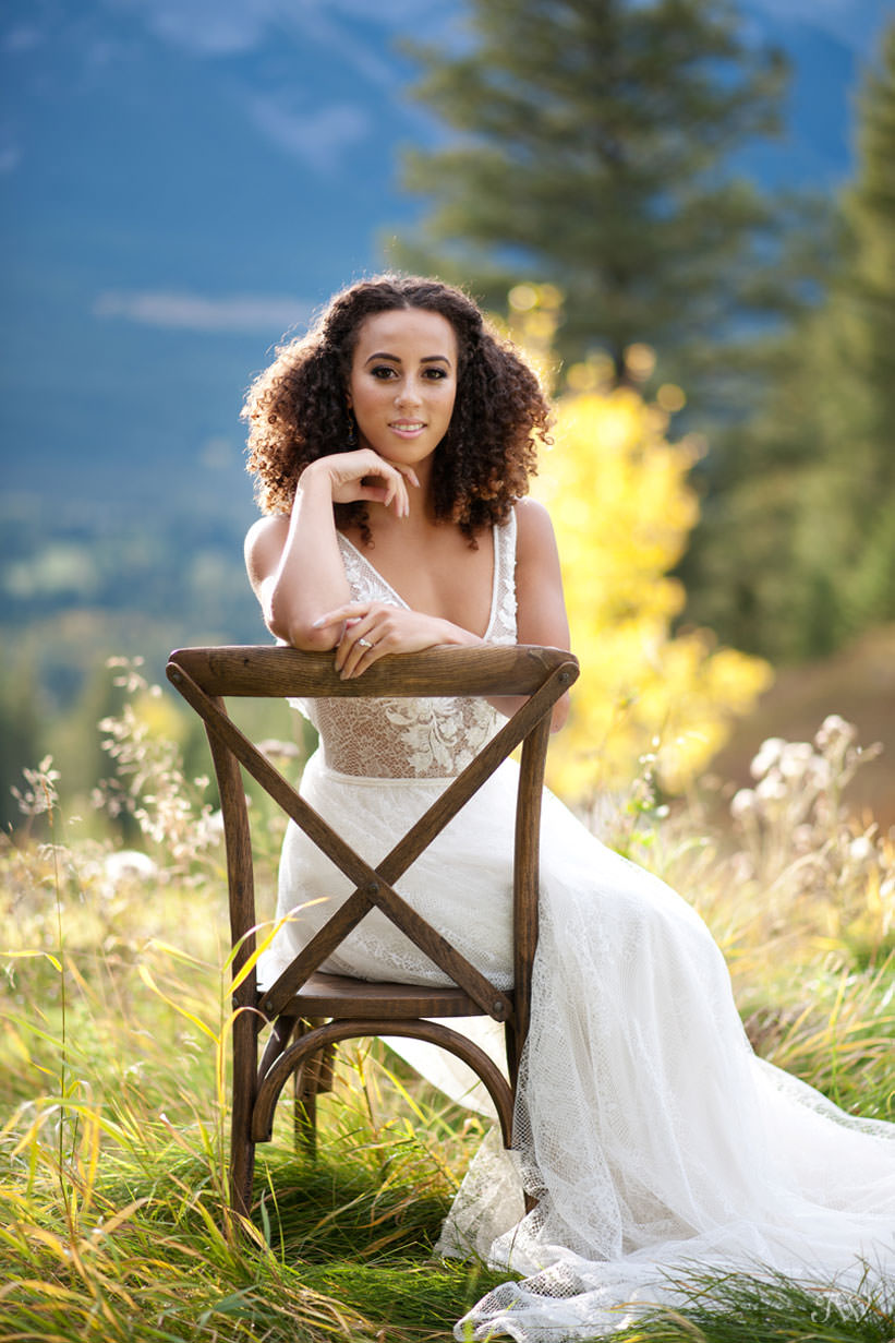 mountain bride at her Silvertip wedding captured by Calgary wedding photographer Tara Whittaker