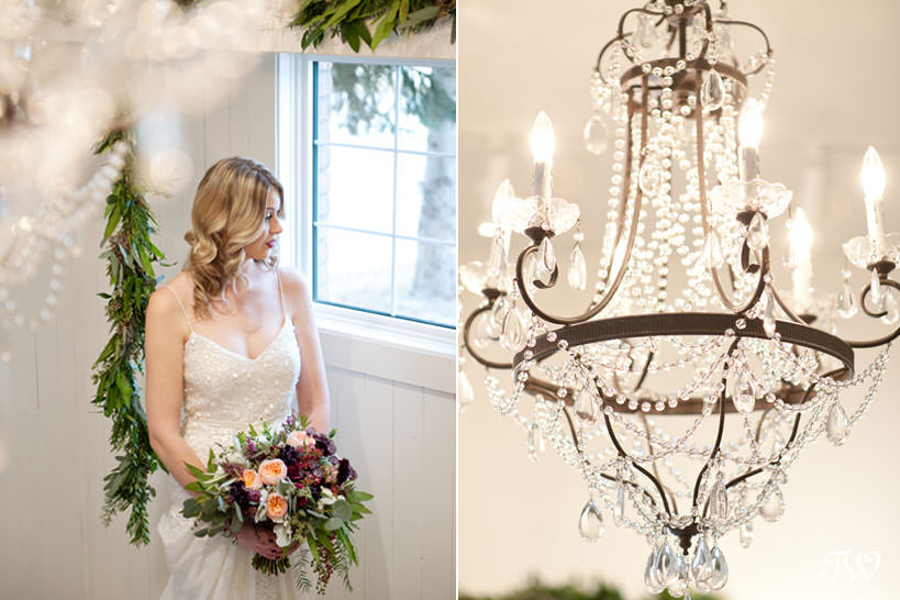 winter bride winter wedding inspiration captured by Calgary wedding photographer Tara Whittaker