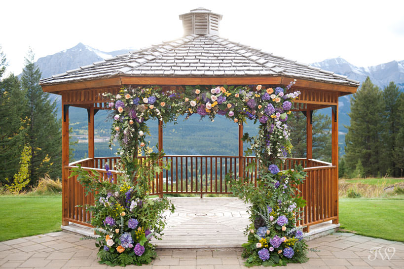 Silvertip Gazebo dressed in Ultra Violet, the Pantone color of the year captured by Tara Whittaker Photography