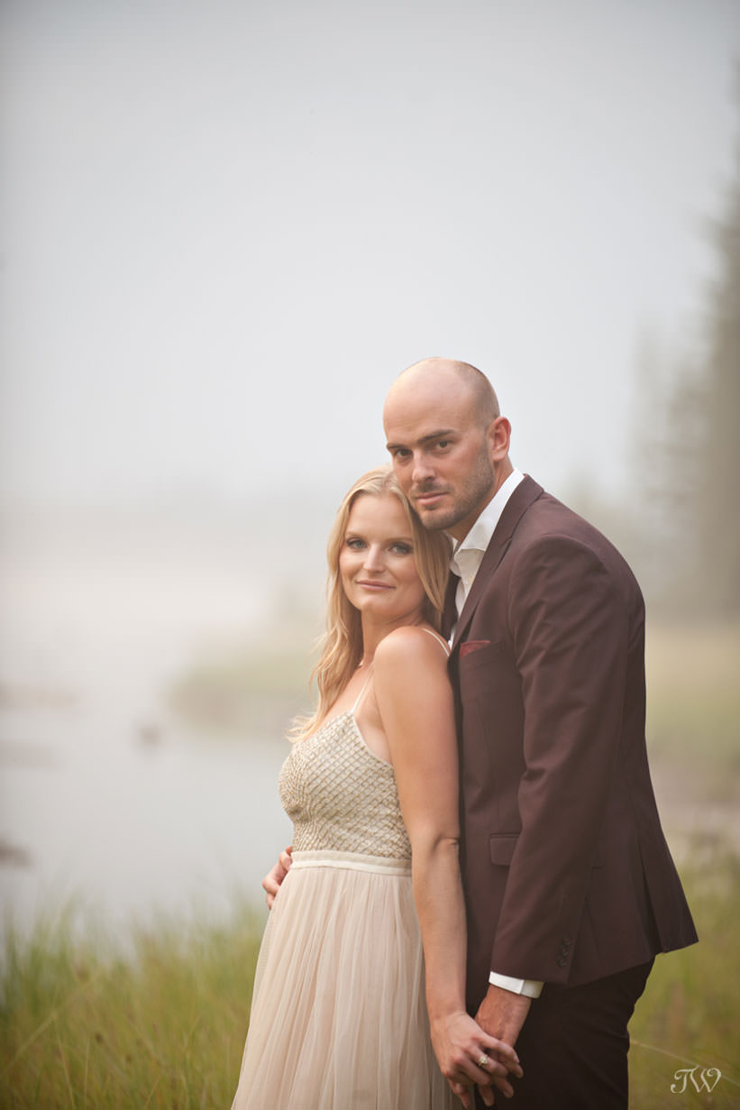 Spray Lakes engagement session captured by Tara Whittaker Photography