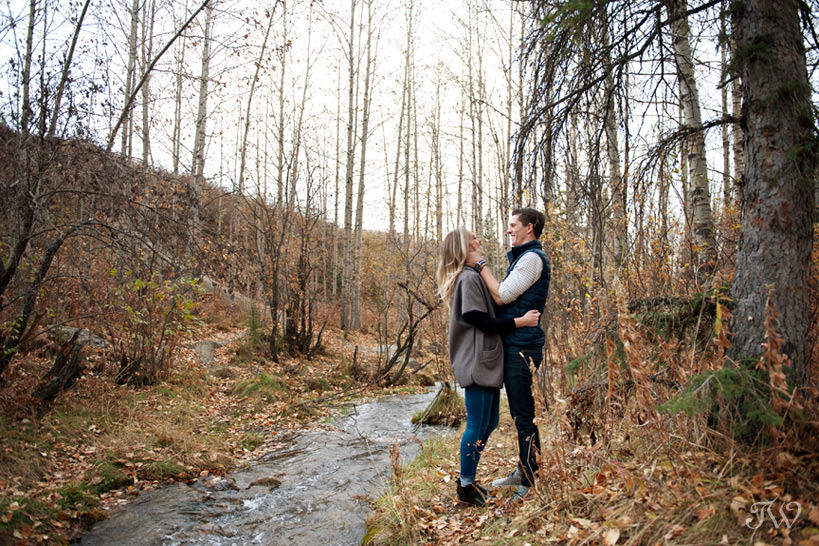 Bride and groom during their Big Hill Springs engagement session captured by Tara Whittaker Photography
