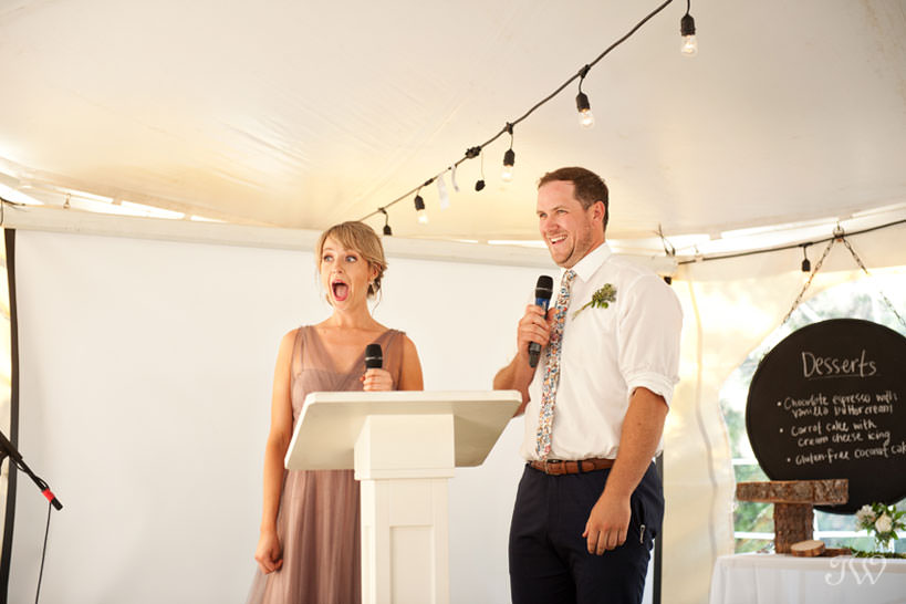 tented wedding reception in Kelowna captured by Tara Whittaker Photography