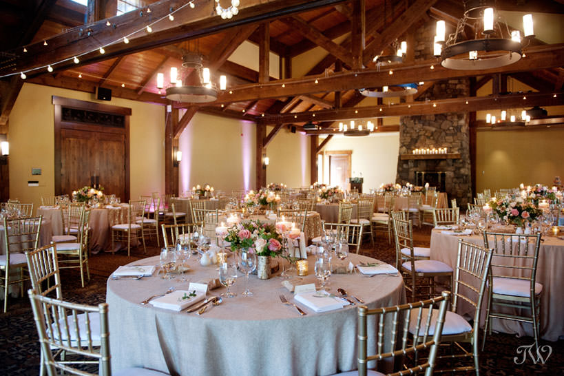 Reception at Silvertip mountain wedding locations captured by Tara Whittaker Photography