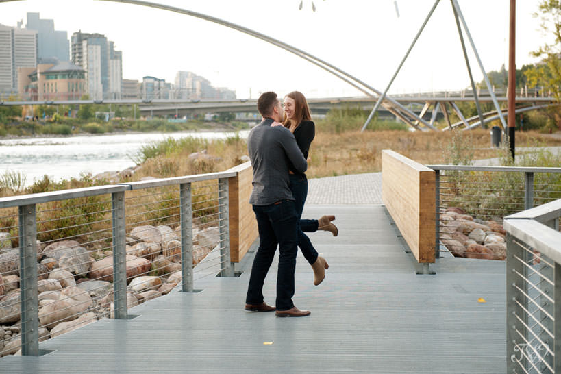 Charissa and Travis on St. Patrick's Island for East Village engagement session captured by Tara Whittaker Photography