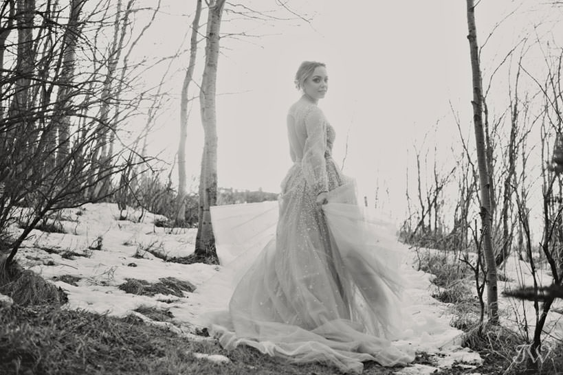 Winter Hayley Paige bride captured by Tara Whittaker Photography