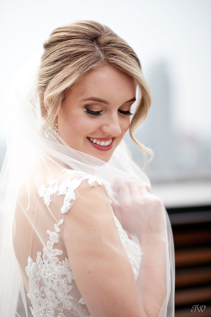 bride before her wedding captured by Calgary wedding photographer Tara Whittaker