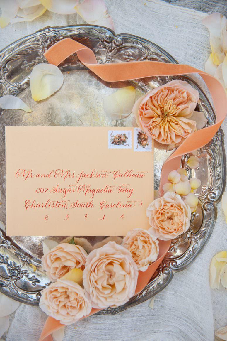 Wedding invitation flat lay Calgary wedding portfolio for Tara Whittaker Photography
