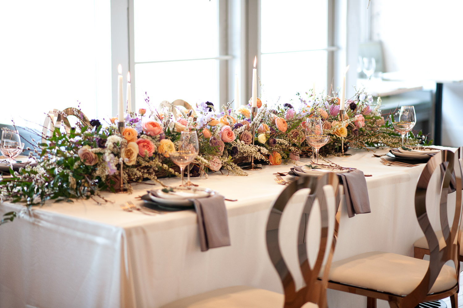 Floral decor for The Nash Weddings captured by Tara Whittaker Photography