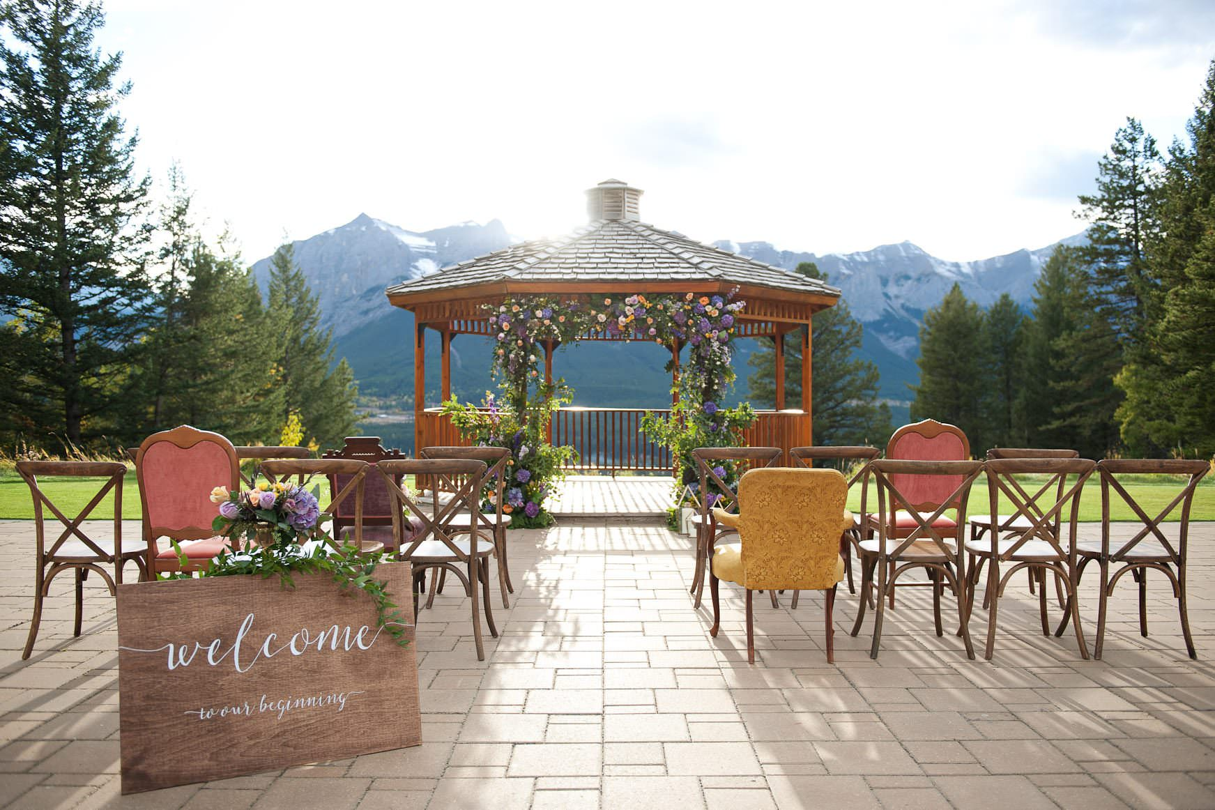 Gazebo at Silvertip is one of the best wedding venues in Calgary and the rockies
