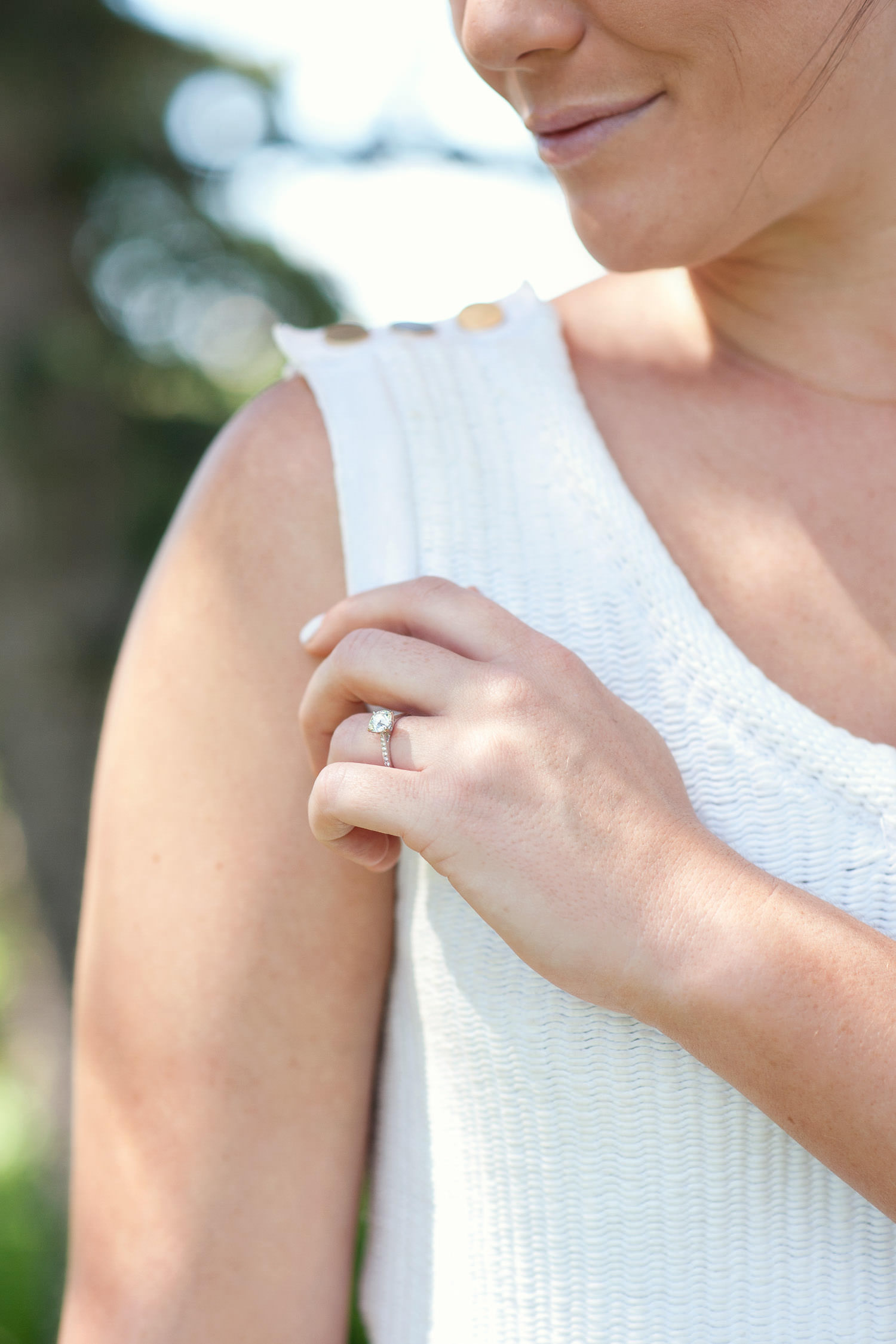 bride Dani and her engagement ring captured by Tara Whittaker Photography
