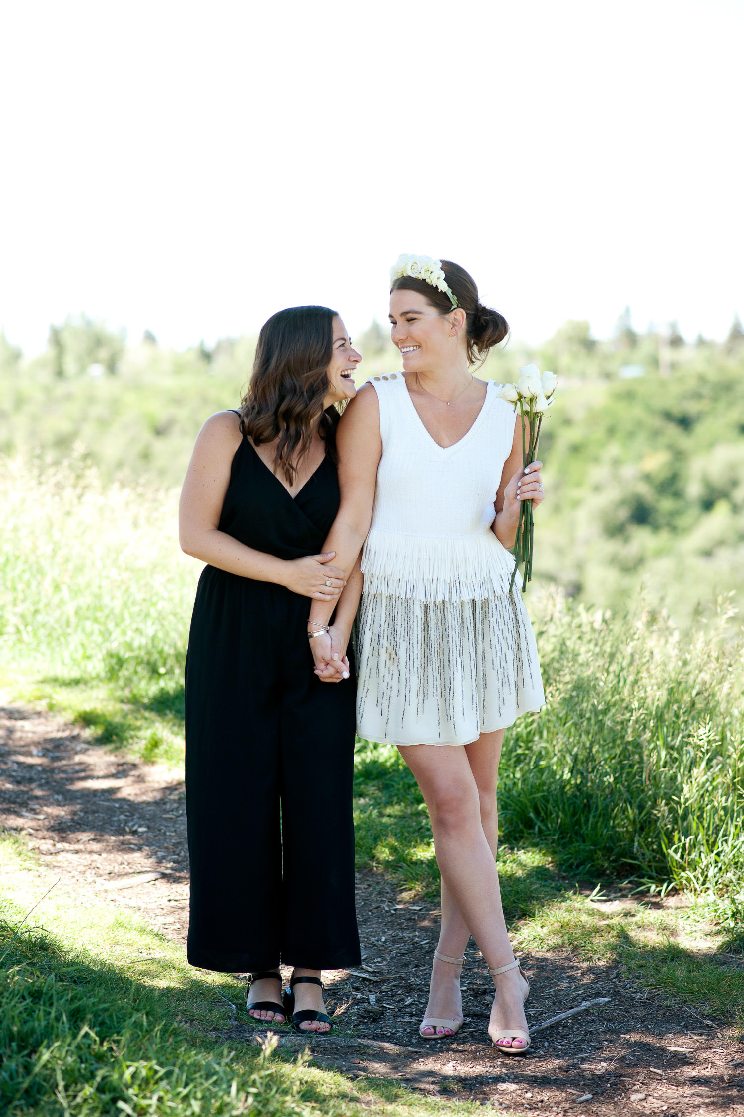 Dani and bridesmaid at bride tribe celebration in Calgary captured by Tara Whittaker Photography