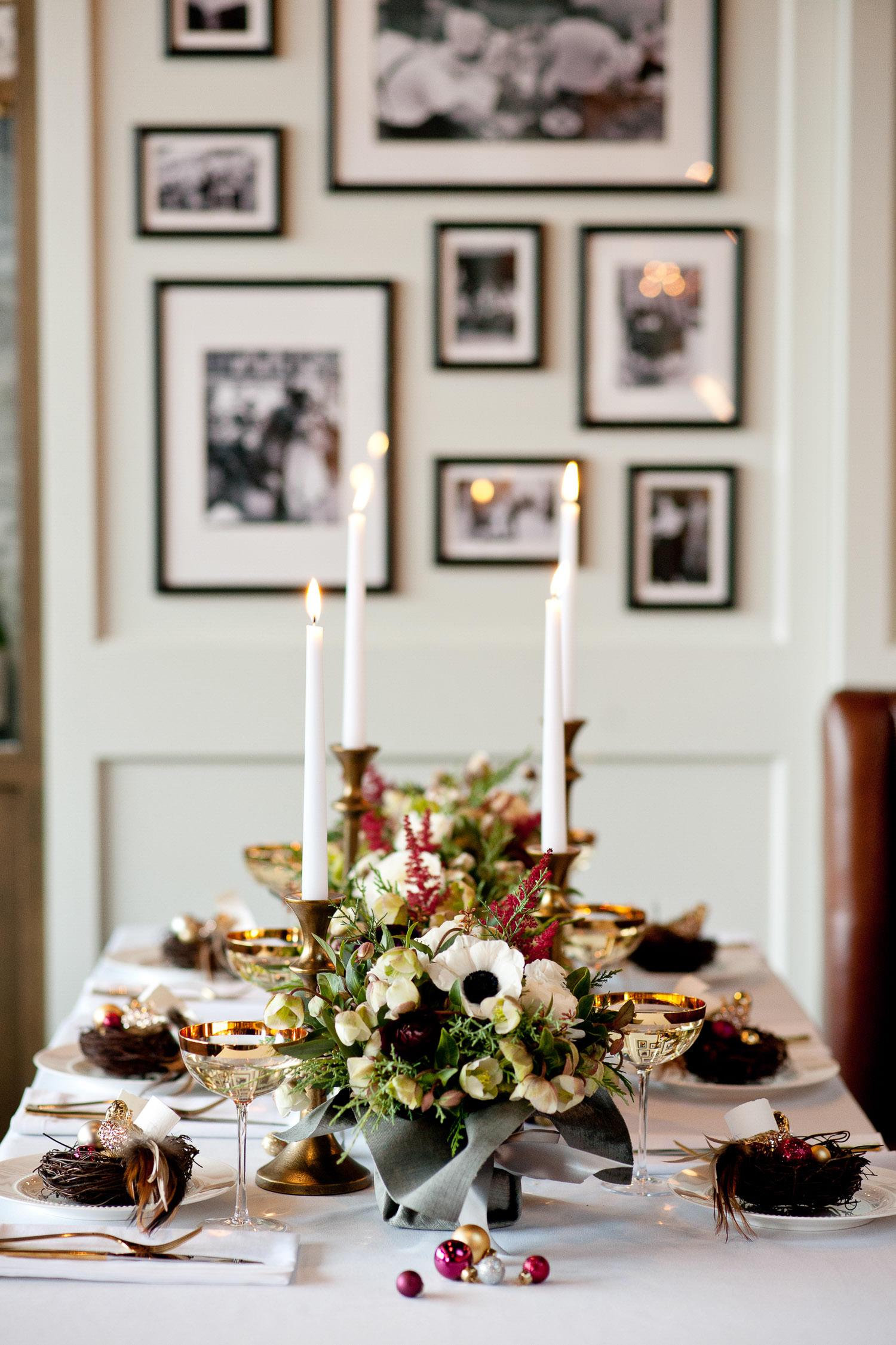 table at Royale Calgary wedding captured by Calgary wedding photographer Tara Whittaker