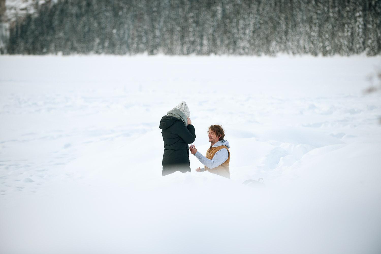 Brendan proposes to Katherine captured by Calgary wedding photographer Tara Whittaker