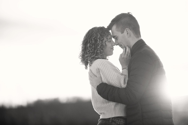 sunset engagement session captured by Calgary wedding photographer Tara Whittaker