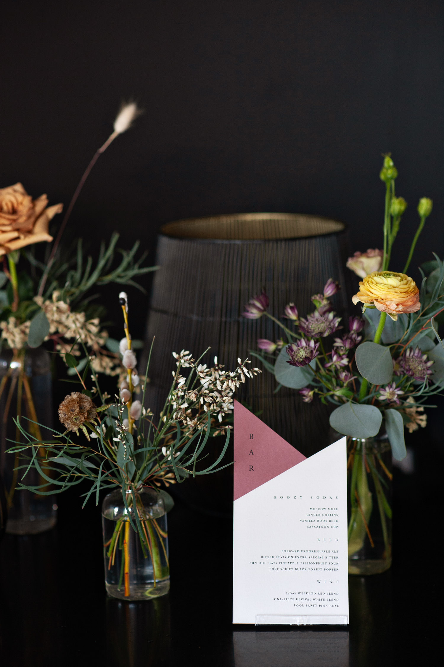 Wedding florals by Sweet Bloom at a micro wedding in Calgary captured by Tara Whittaker Photography