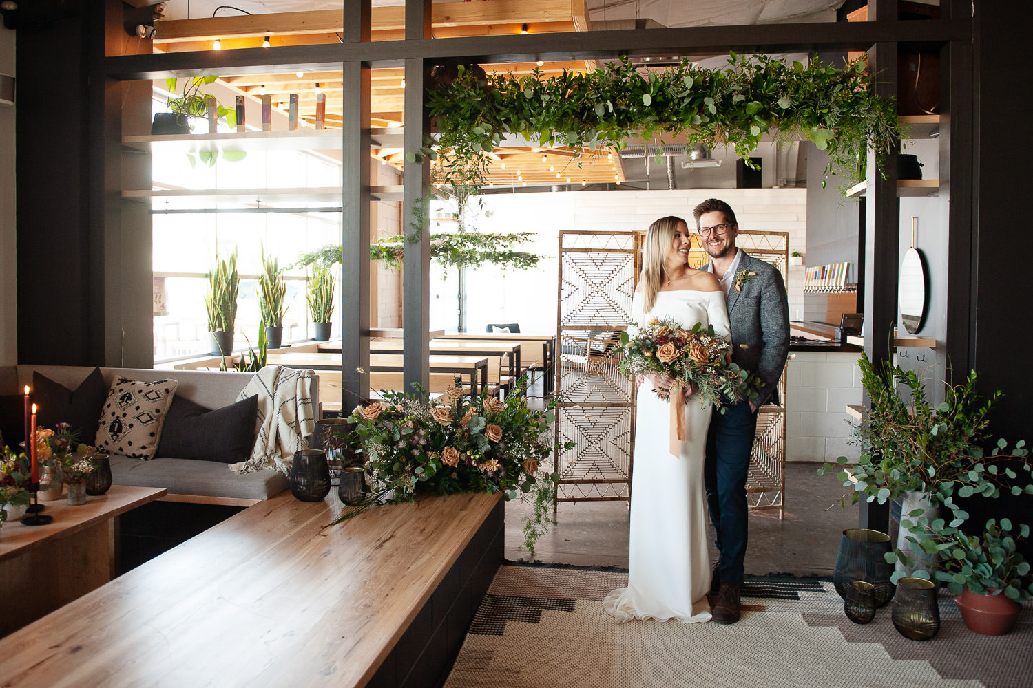 The ceremony space at an Annex Ale Project wedding captured by Tara Whittaker Photography
