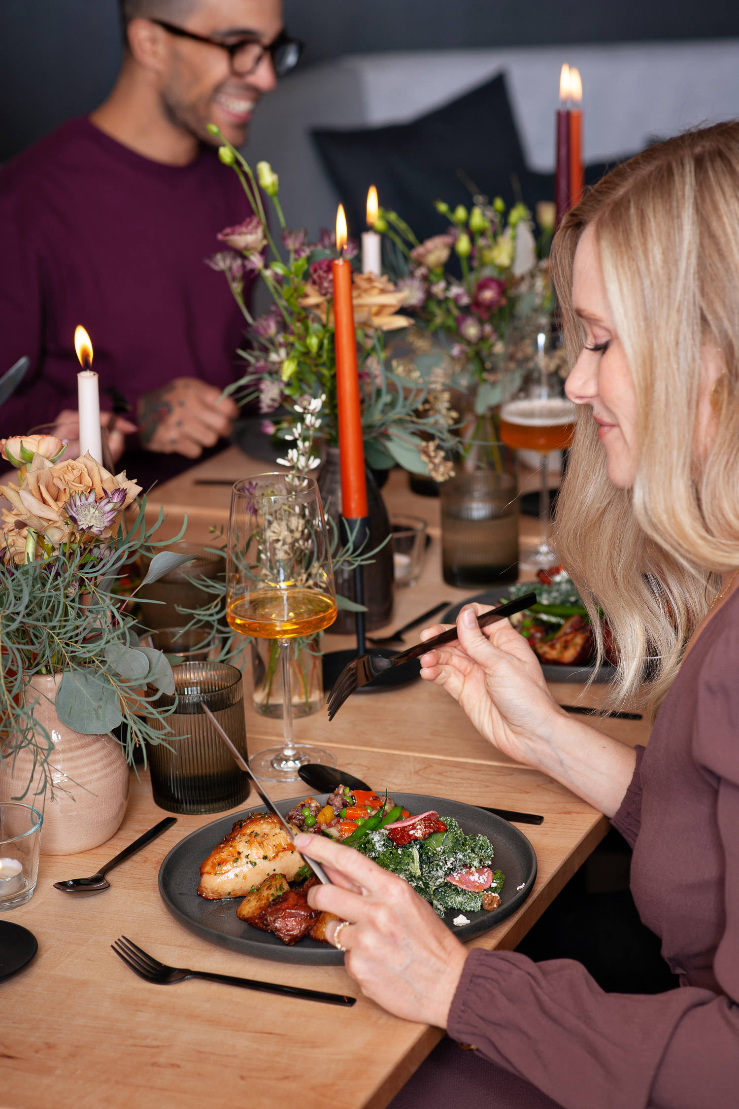 Wedding meal by Empire Provisions at Annex Ale Project captured by Tara Whittaker Photography