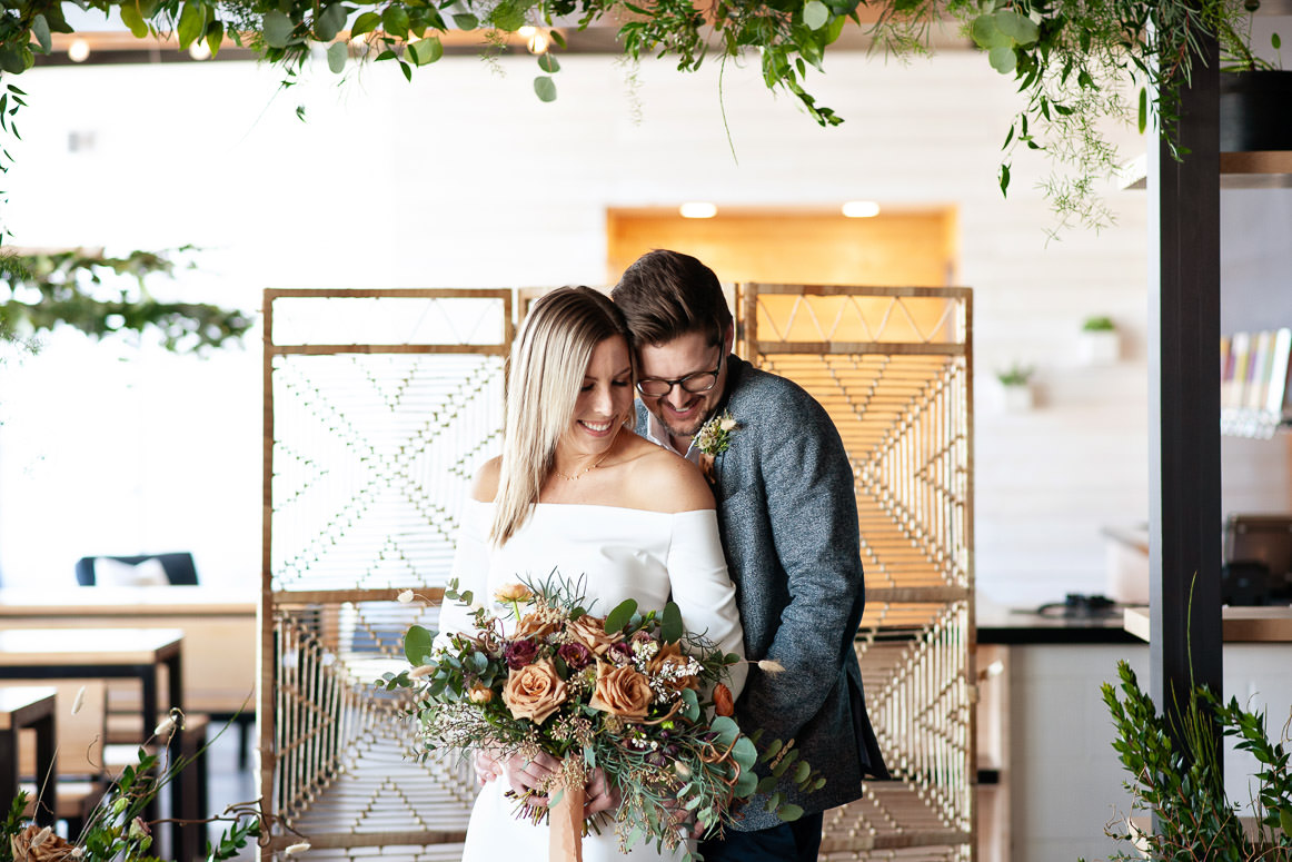 bride and groom get married at Annex Ale Project captured by Tara Whittaker Photography