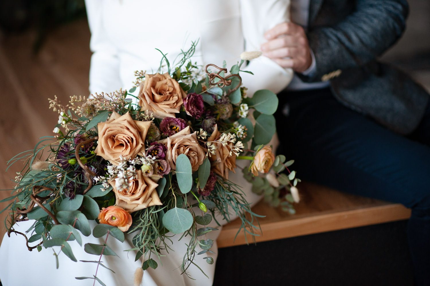 bridal bouquet for Calgary intimate weddings and elopements captured by Tara Whittaker Photography