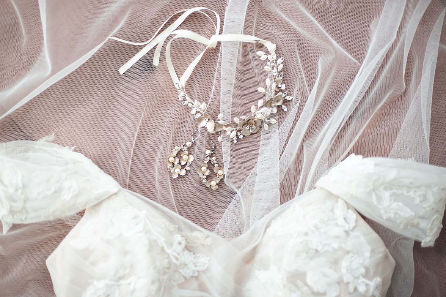 bridal jewelry available at Blush & Raven captured by Tara Whittaker Photography