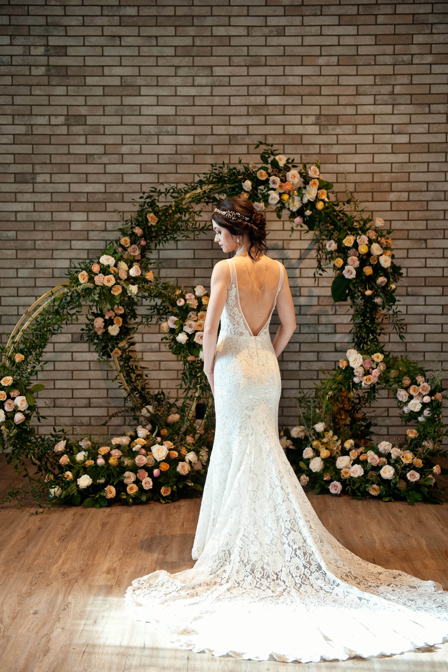 bride at her Hudson wedding ceremony captured by Tara Whittaker Photography