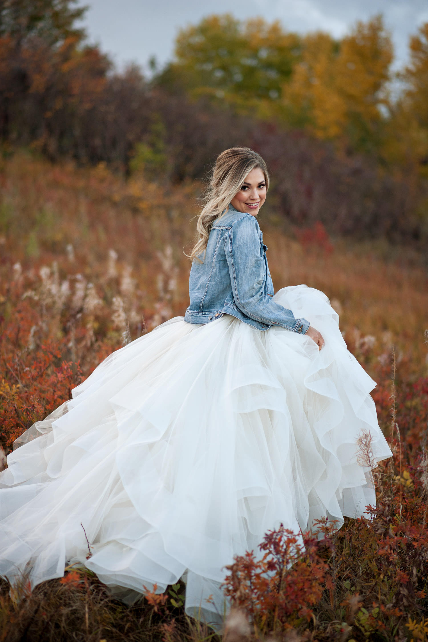 Denim and Hayley Paige fall bridal inspiration captured by Tara Whittaker Photography
