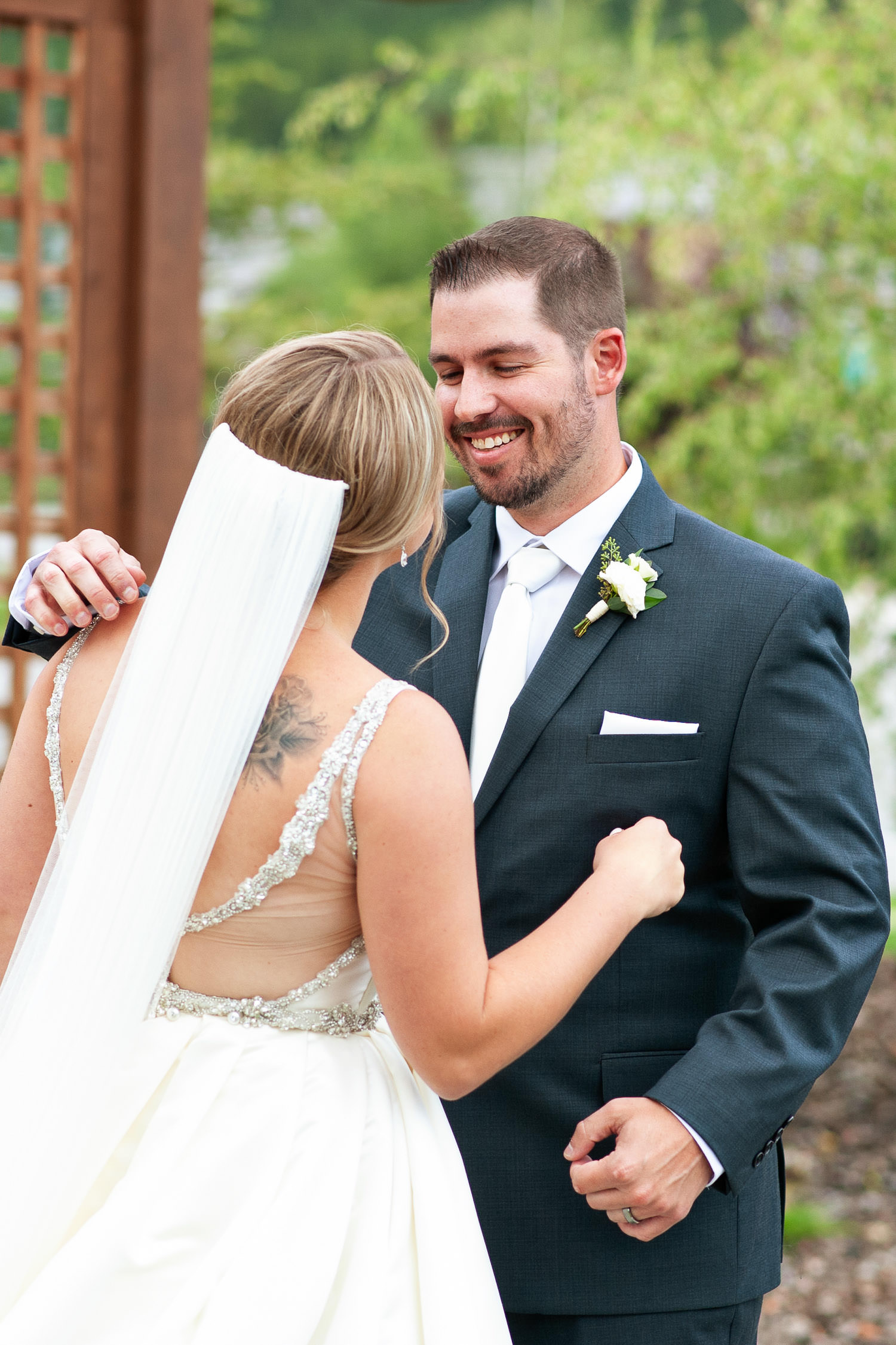 Just married during a Creekside Villa wedding captured by Tara Whittaker Photography