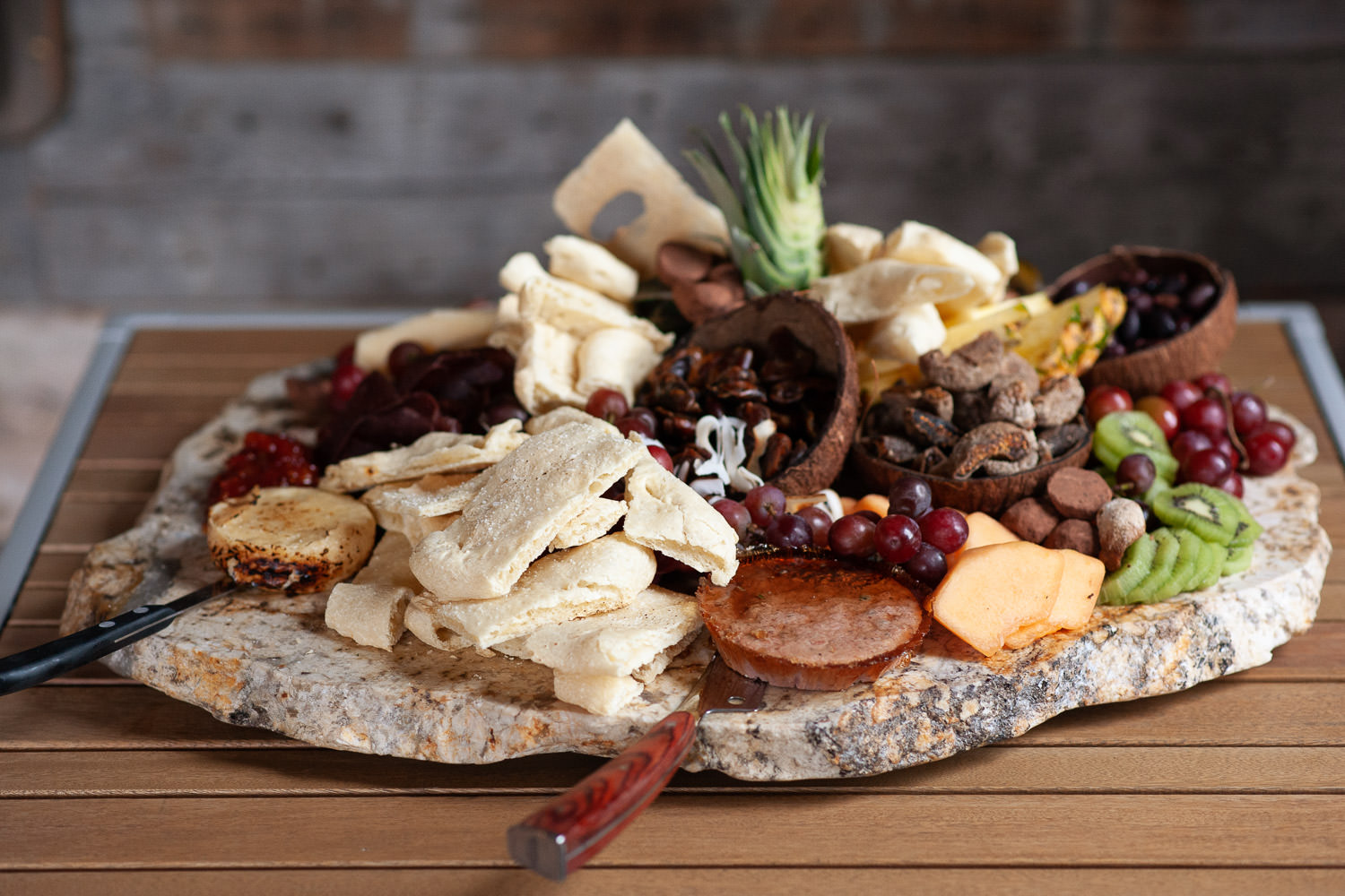 Charcuterie board for guests after a Creekside Villa wedding captured by Tara Whittaker Photography