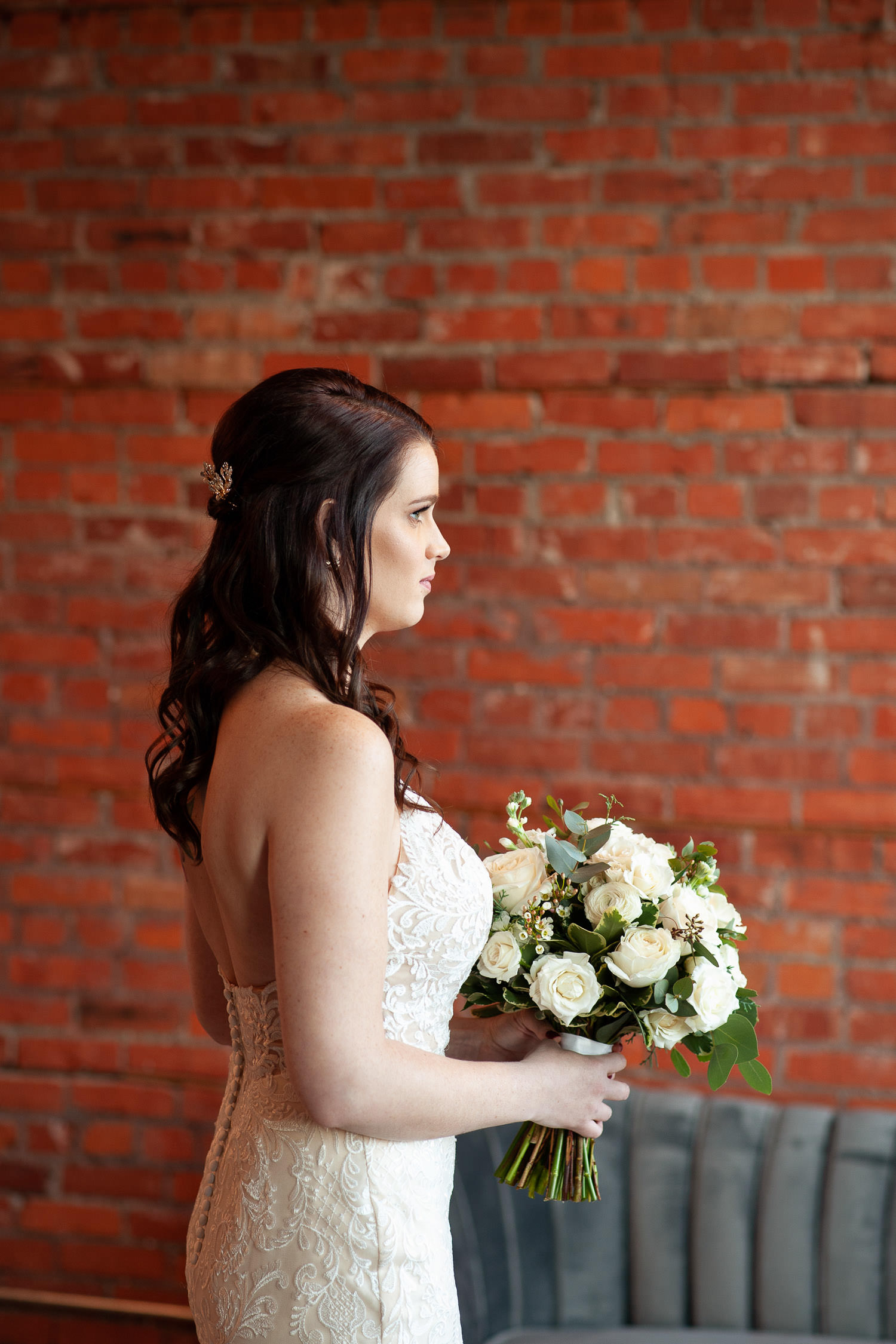 bride waits for her groom at her intimate wedding in calgary captured by Tara Whittaker Photography