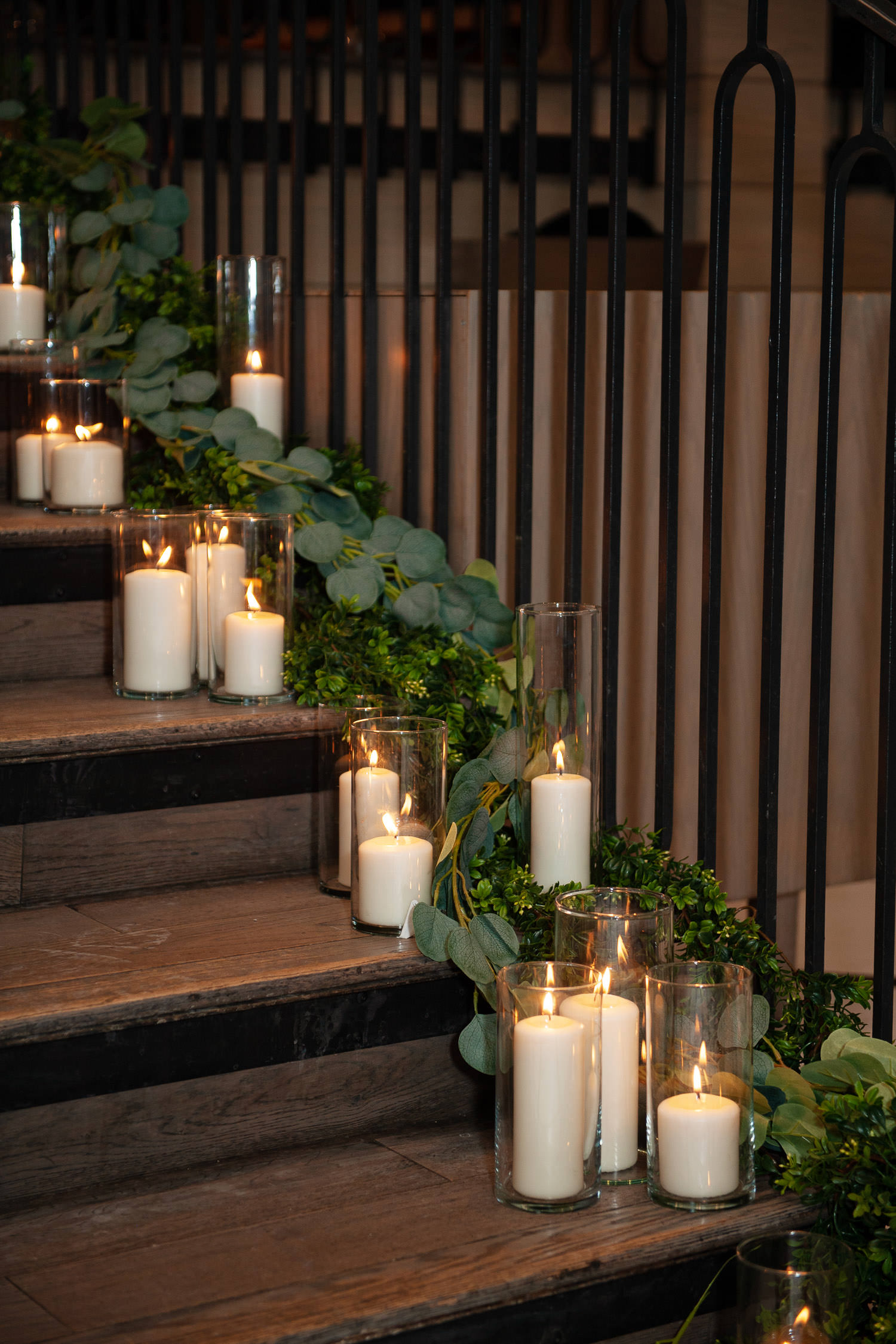 candlit entry to intimate wedding in Calgary captured by Tara Whittaker Photography