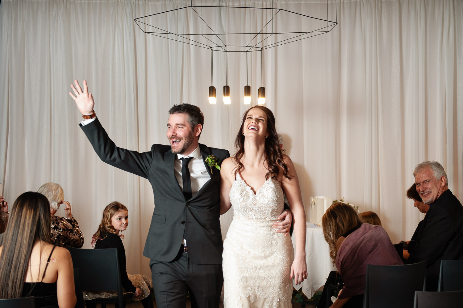 Just married in an intimate wedding in Calgary by Tara Whittaker Photography