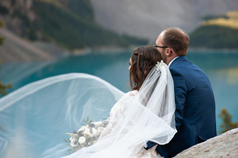 Bridal veil shot at Moraine Lake captured by Tara Whittaker Photography