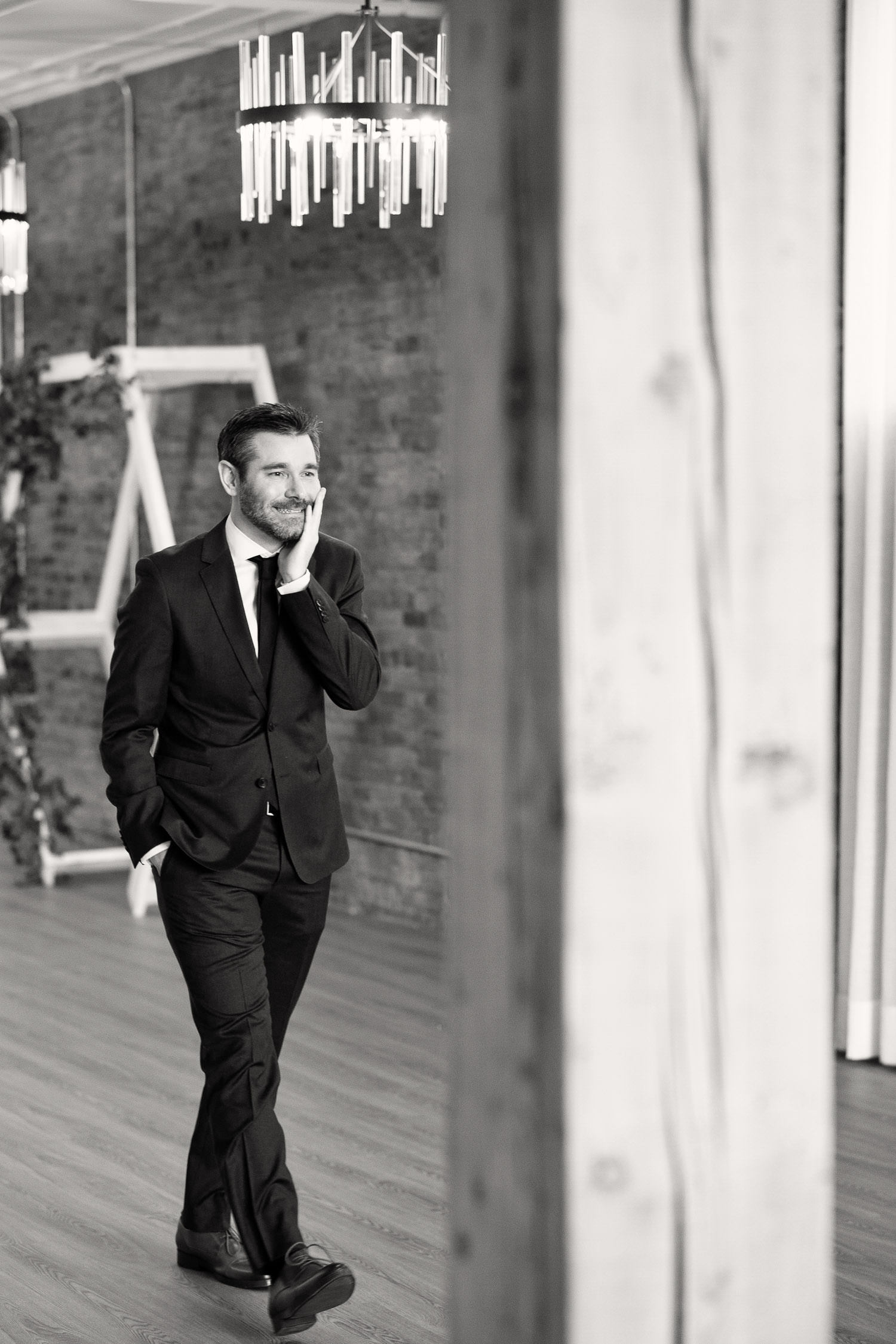 this groom's face is 1 of the top 5 reasons to do a first look, captured by Tara Whittaker Photography